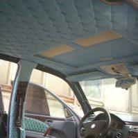 перетяжка потолка автомобиля